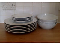 White Denby Dinner Set
