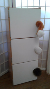 Child's Storage Cabinet Tree Doors with furry tails knobs Size:1
