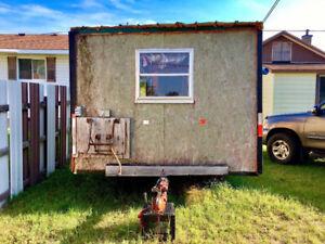 8x8 ice hut on wheels