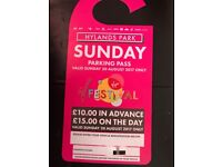 New Sunday hylands park V festival tickets x3 and a parking pass