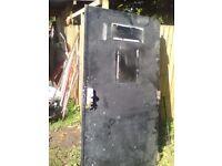 Solid Steel Security Door (98x200cm)