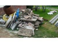 Broken/cut slabs
