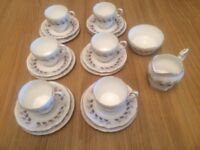 Bone china tea set - made by Paragon. Model Olympus- 20 piece