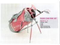 Tiger Cub kids junior golf set for girls top of the range in the PINK brand new in box