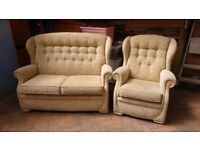 Double Sofa couch with Arm Chair
