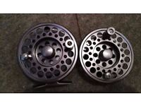 alloy fly fishing reel and spare spool +and a quality line 7/8