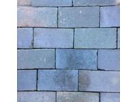 Vintage Blue Reclaimed Victorian Bricks / Pavers x 91