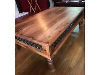 Solid wood antique look coffee table