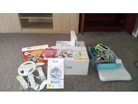 Wii console Wii fit and games