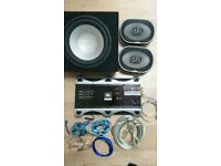 sub woofer, 6'x9s, AMP and wiring