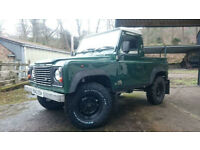 Land Rover Defender 90 Truck Cab 1998. New chassis & full re-build.