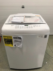 LG 5.2 cu. ft. 8-Cycle Top-Load Washer in White