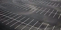 Parking lot line painting, traffic painting