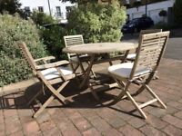 Garden table and 4 chairs from Heals
