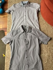 2 Mexx short sleeve dress shirts size L