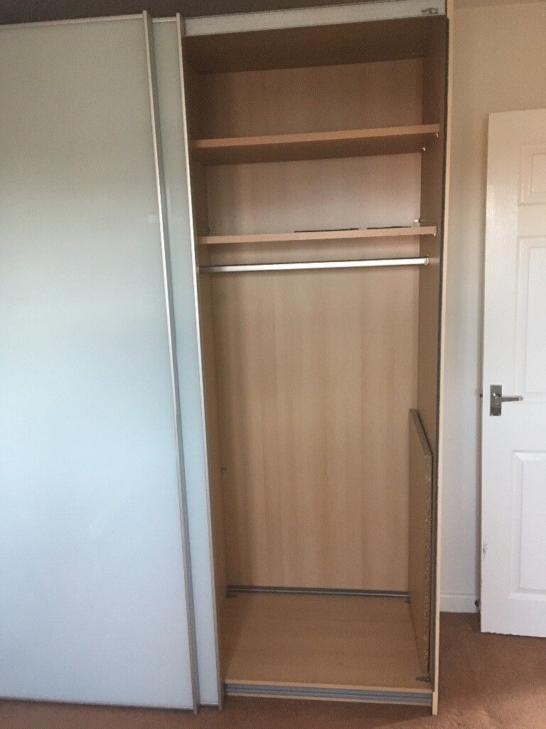 Reduced Large Double Wardrobe Sliding Glass Doors And Double