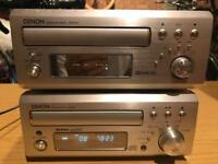 Denon micro hifi system cd tape deck