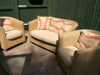 For sale - 3 piece cane furniture set. Ideal for the conservatory.