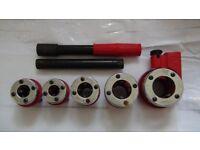 pipe threader 5 pcs set/new