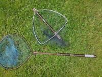 """2 McLean landing nets 18"""" & 16"""""""