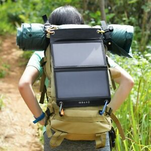 Solar Panel Charger for USB Devices-Hiking-Camping-Remote Areas