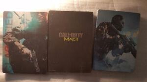 Call of Duty Black Ops Modern Warfare 3 Ghosts Steelbooks