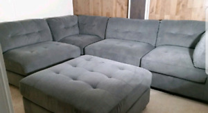 5 piece Sectional Sofa and ottoman with Free Delivery