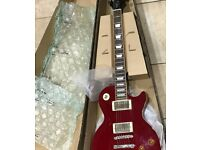 EPIPHONE LES PAUL STANDARD ELECTRICAL GUITAR CARDINAL RED BOXED + 1 YEAR WARRANTY £200 BARGAIN!