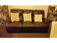 Leather sofa and chair forsale