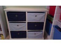 6 Canvas Drawer Storage Unit