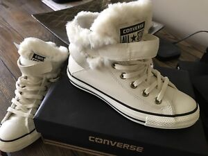 New fur lined Converse Chuck Taylors