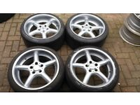 18 BROCK DESIGN STAGGERED 9.5J ALLOY WHEELS BMW E90 E92 F01 M3 5 X 120 VW T5 TRANSPORTER VIVARO VAN