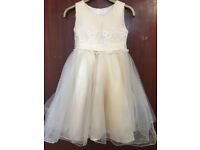 Peach & Silver Girl's Party Dress / Frock / Bridesmaid / Flower Girls