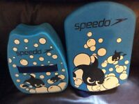 Blue Speedo Back Float with Straps & matching Kick Board - Excellent Condition