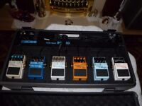 BRAND NEW BOSS PEDAL BOARD AND BOSS PEDALS