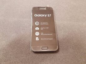 SAMSUNG GALAXY S 7 SIMFREE GRADE B BLACK WITH CHARGER AND THREE MONTHS WARRANTY