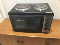 Prima 26 litre mini oven & grill with twin hob - 230-240V, 3000W