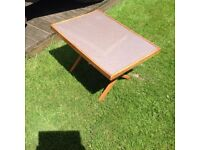 Vintage Retro Wooden Folding Camping Table