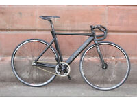 Aventon Mataro track singlespeed fixie bicycle new used cheap 52cm miche vittoria small black good