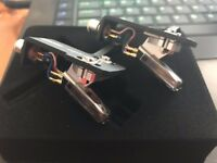 Ortofon S-120 cartridges fitted to ortofon serato headshells