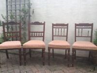 Antique walnut dining chairs