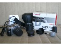 Boxed Canon EOS 300D Digital SLR Camera + EF 18-55mm Lens + Case!