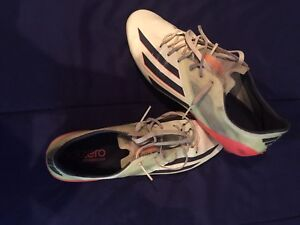 10 1/2 Adidas Lime green with Orange F50 soccer cleats OBO