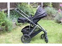 Uppababy Vista 2013 Complete Travel System in Jake Black Carry Cot & Pram