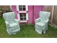 3 high backed armchairs £10 each only
