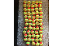31 Red and 60 orange tennis balls