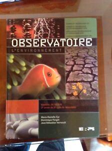 Manuel science secondaire 4 - Observatoire - l'environnement