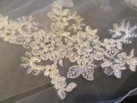 Wedding veil lace detail never worn!!