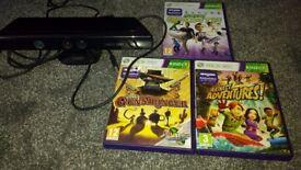 Kinect Sensor for XBox 360 plus 3 games