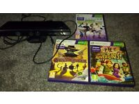 Kinect Sensor for XBox 360 plus 3 games